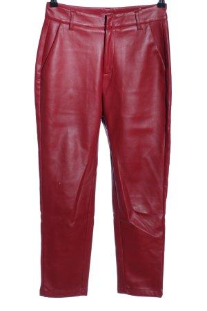 Loavies Pantalon fuselé rouge style d'affaires