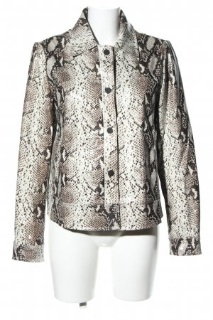 Loavies Faux Leather Jacket animal pattern business style