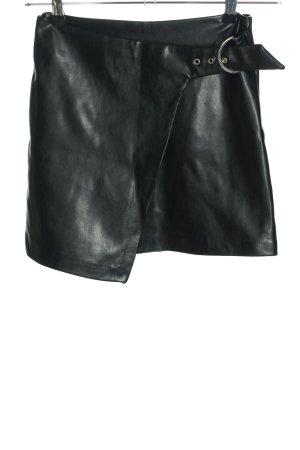 Loavies Kunstlederrock schwarz Casual-Look