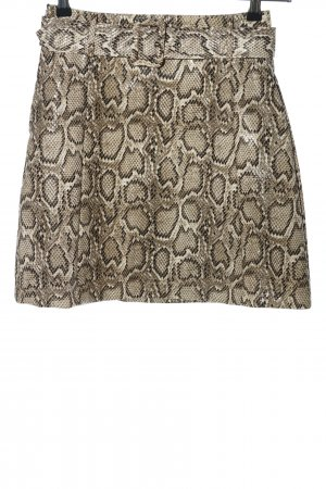 Loavies Faux Leather Skirt animal pattern casual look