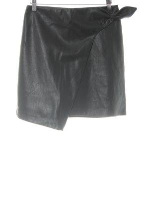 Loavies Rok van imitatieleder zwart simpele stijl