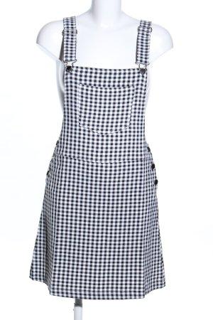 Loavies Salopette-jupe noir-blanc motif à carreaux style décontracté