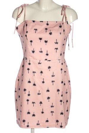 Loavies Minikleid pink-schwarz Allover-Druck Elegant