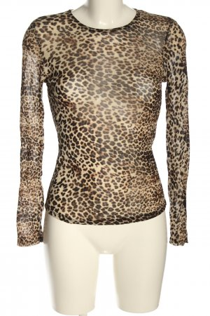 Loavies Mesh Shirt leopard pattern casual look