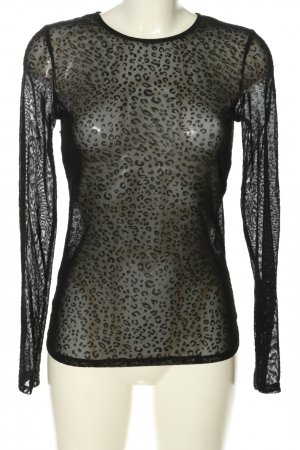 Loavies Mesh Shirt black allover print extravagant style
