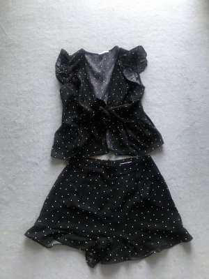 Loavies Jersey twin set zwart-wit