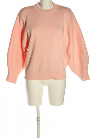 Loavies Strickpullover nude Zopfmuster Casual-Look