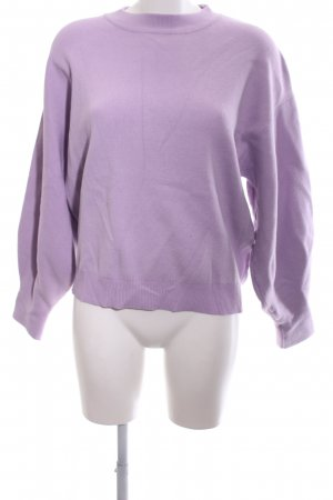 Loavies Strickpullover lila Casual-Look