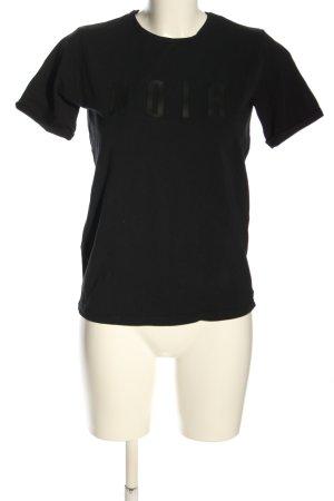 Loavies T-Shirt schwarz Schriftzug gedruckt Casual-Look