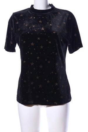Loavies T-Shirt schwarz-bronzefarben Motivdruck Casual-Look