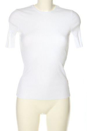 Loavies T-Shirt weiß Streifenmuster Casual-Look