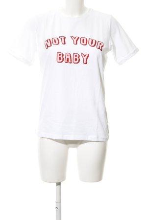Loavies T-Shirt platzierter Druck Casual-Look