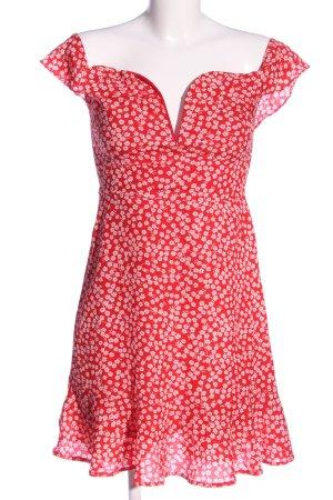 Loavies Trägerkleid rot-pink Allover-Druck Casual-Look