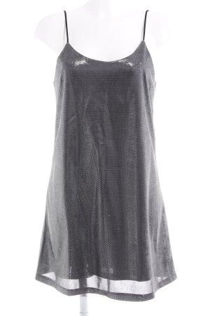 Loavies Trägerkleid schwarz-silberfarben Metallic-Optik