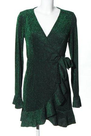 Loavies Wickelkleid grün meliert extravaganter Stil