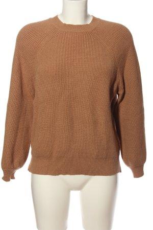Loavies Jersey trenzado marrón punto trenzado look casual