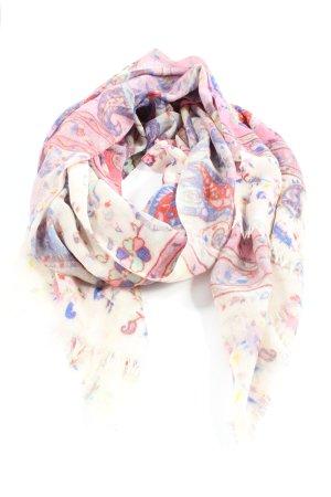 LOBERON Wollen sjaal roze-wolwit volledige print casual uitstraling