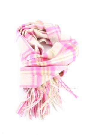 LOCHMERE Sjaal met franjes roze-sleutelbloem geruite print casual uitstraling