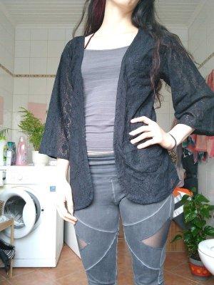 Cardigan en crochet noir coton