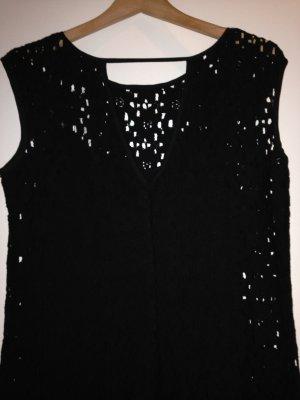 Lochmuster Kleid schwarz chic
