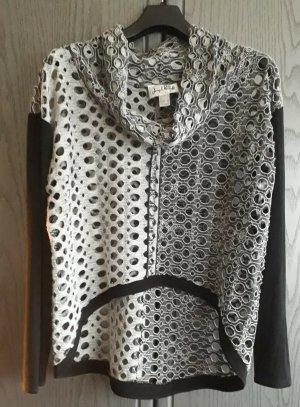 Joseph Ribkoff Mesh Shirt black-light grey