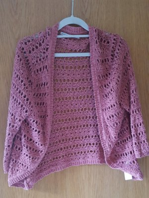 Only Cardigan all'uncinetto rosa