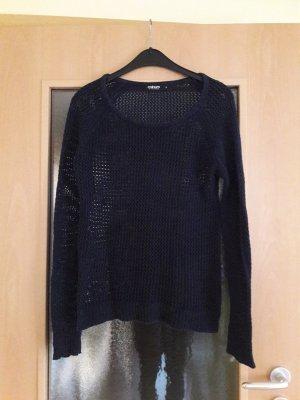 Colours of the World Coarse Knitted Sweater dark blue