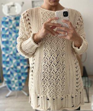 Zara Szydełkowany sweter Wielokolorowy Bawełna