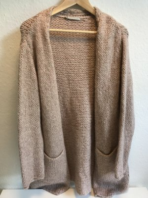 locker gestrickter Cardigan in altrosa (Strickjacke)