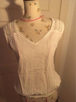 Solitaire Szydełkowana koszulka biały