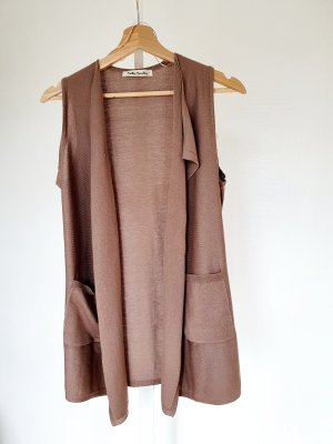 Betty Barclay Long Knitted Vest camel polyester