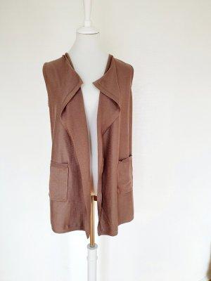Betty Barclay Gilet long tricoté chameau polyester