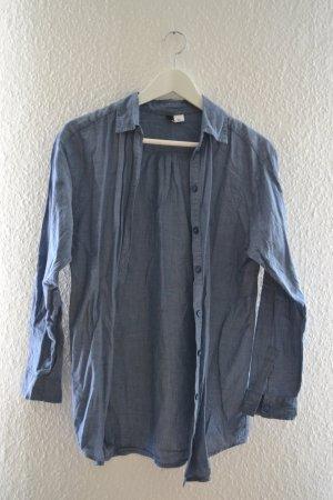 Lockere blaue Bluse Hemd von H&M Ärmel lang oder als 3/4 Arm