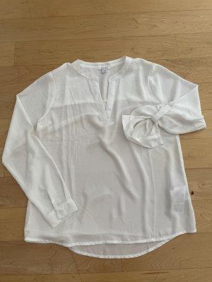 Amisu Bluzka oversize biały Poliester