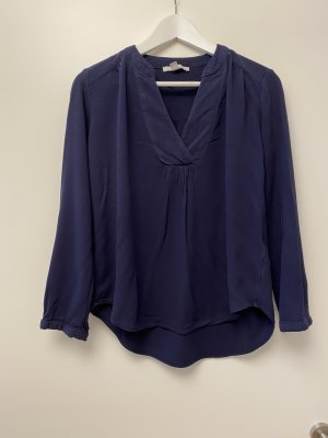 Lockere Bluse in Dunkelblau