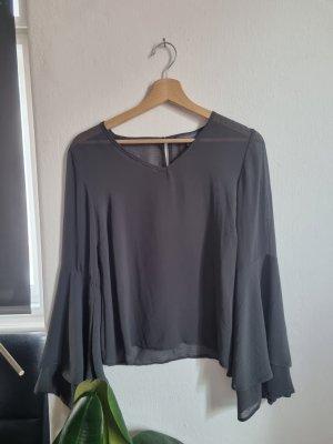 Lockere Bluse in Grau