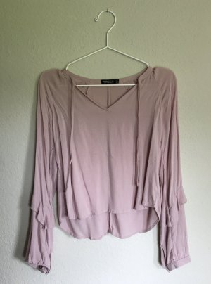 Lockere Bluse in rosé