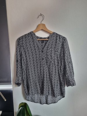 lockere Bluse mit Muster
