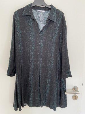 Lefties Lange blouse zwart-bos Groen