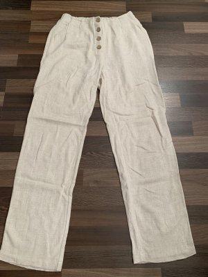 Cream Pantalone di lino multicolore