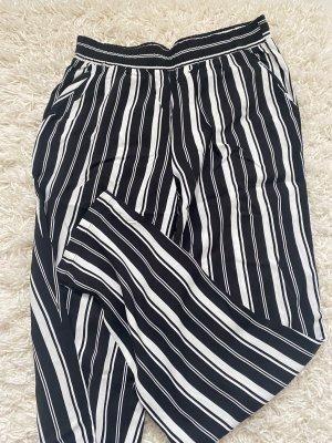 Pantalon pattes d'éléphant noir-blanc