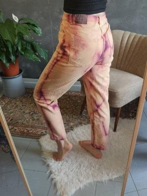 lockere High-waisted batik Hose