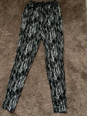H&M Joggingbroek zwart-wit