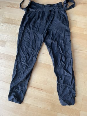 Zero Pantalone a vita alta nero
