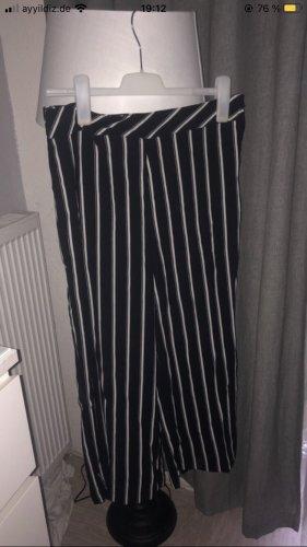 Pantalón de pinza negro-blanco