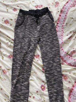 AJC Pantalon chinos noir-blanc