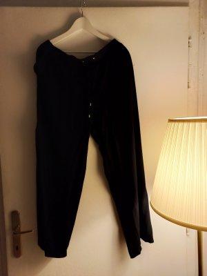 C&A Spodnie materiałowe czarny-srebrny