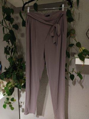Comma Stretch broek grijs-lila-mauve