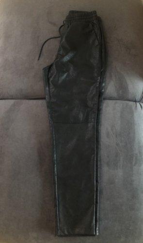 Vila Faux Leather Trousers black