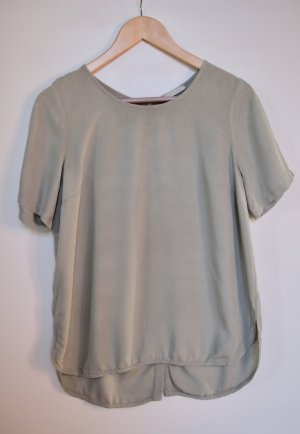 Lockere T-Shirt-Bluse in hellem Khaki
